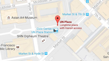 Map of UN Plaza