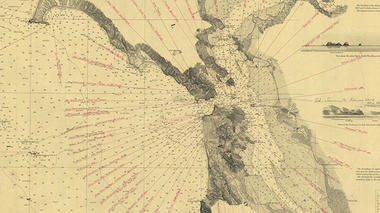 Detail from shipwrecks chart, U.S. Coast Survey, 1873