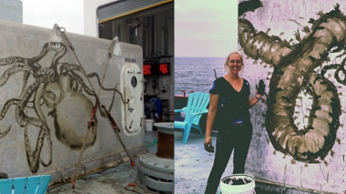 Exploration Vessel Nautilus Webcast: An Artist Looks at Life on an Undersea Volcano