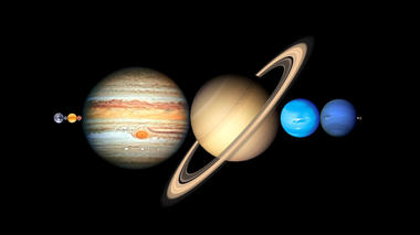 Planets and moons are spaced much further apart than most people think. Even the Earth and Moon are a vast distance...