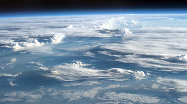 photo of earth's atmosphere from space