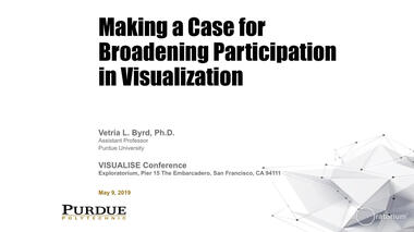 Professor of Computer Graphics Technology Vetria Byrd discusses efforts to broaden the data visualization field,...