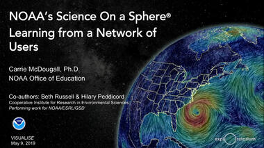 National Oceanic and Atmospheric Administration (NOAA) Senior Program Manager Carrie McDougall discusses Science On a...