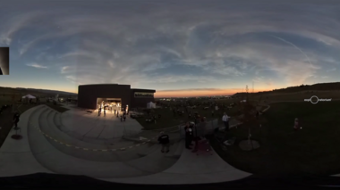 A 360 degree view of totality from the Exploratorium's Live Webcast production site in Casper, Wyoming on August 21,...