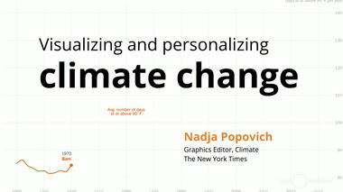 New York Times reporter and graphics editor Nadja Popovich discusses the ways that visualizations of global climate...