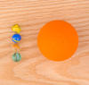 Science activity that explores the relative sizes of the earth and moon and the distances between them