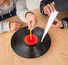 Science and engineering activity to make a record player