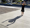 Person with shadow.
