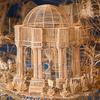 A toothpick sculpture of San Francisco's Palace of Fine Arts within the Rolling Through the Bay exhibit.