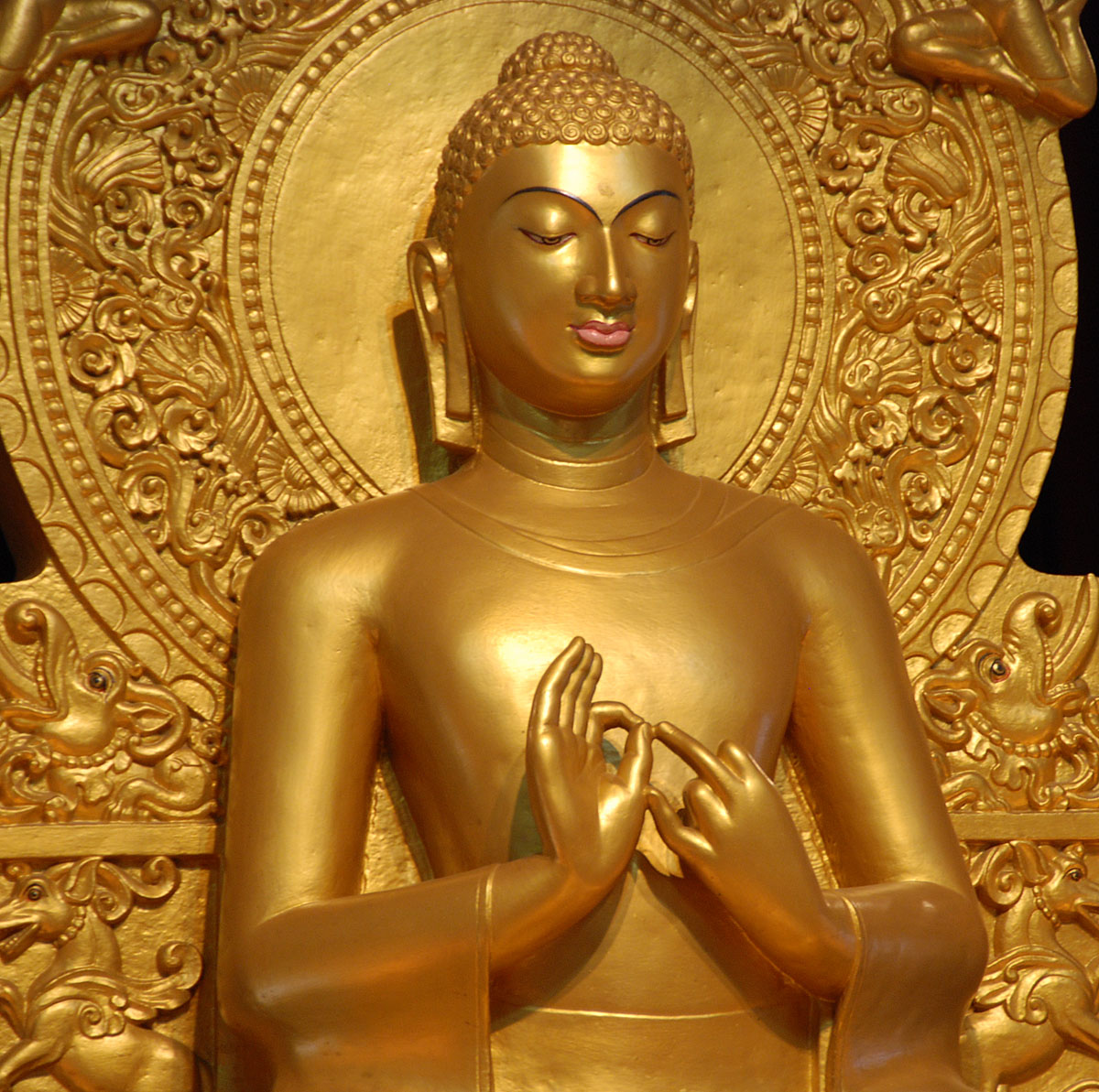 A statue of Buddha in Sarnath