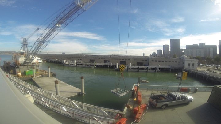 Water Taxi Dock Construction at Pier 15